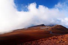 Stunning landscape view of Haleakala volcano area seen from the summit. Maui, Hawaii. USA Royalty Free Stock Photography