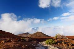 Stunning landscape view of Haleakala volcano area seen from the summit. Maui, Hawaii. USA Royalty Free Stock Photos