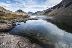 Stunning landscape of Wast Water and Lake District Peaks on Summ Stock Images