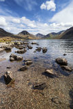 Stunning landscape of Wast Water with reflections in calm lake w Royalty Free Stock Photos