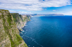 Stunning Latrabjarg bird cliffs,, Western Fjords, Iceland Royalty Free Stock Images