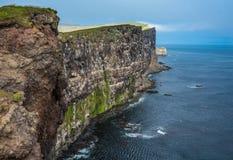 Stunning Latrabjarg bird cliffs,, Western Fjords, Iceland Royalty Free Stock Image