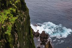 Stunning latrabjarg cliffs europe s largest bird cliff. And home to millions of birds including Royalty Free Stock Image