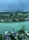 A stunning look at Miami, Florida, USA. Miami is an international city at Florida`s southeastern tip. Its Cuban influence is reflected in the cafes and cigar Royalty Free Stock Photos