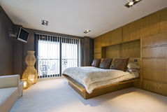 Stunning luxury bedroom. With modern designer furniture Stock Images