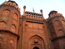 Stunning Main Gate of Red Fort, New Delhi, India Stock Photo