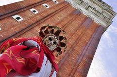 Stunning mask at the carnival in Venice Royalty Free Stock Photo