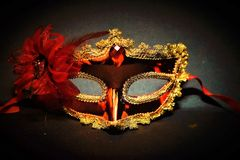 Stunning Mask For Ladies Fashion Events royalty free stock photography