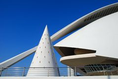 Stunning Modern Architecture 1. Building under a blue sky with beautiful lines and curves Royalty Free Stock Photos