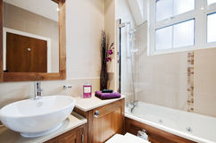 Stunning modern bathroom royalty free stock photos