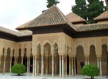 Stunning Moorish Style Palace of the Alhambra, UNESCO World Heritage Site. In Granada, Spain stock images