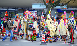 Stunning motley mummers ensemble Royalty Free Stock Images