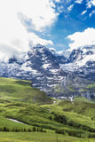 Stunning Mountain view at Lauterbrunnen Stock Image