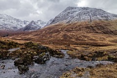 Stunning mountain view. Near Fairy Pools, Scotland Royalty Free Stock Images