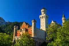 Stunning Neuschwanstein castle near Fussen,Bavaria,Germany,Europe Stock Photography