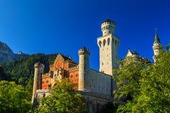 Stunning Neuschwanstein castle near Fussen,Bavaria,Germany,Europe Stock Photography