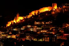Free Stunning Night View Of Lighted Up Narikala Ancient Fortress, Tbilisi, Georgia Royalty Free Stock Image - 163698866
