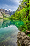 Stunning Obersee lake in Alps Royalty Free Stock Images