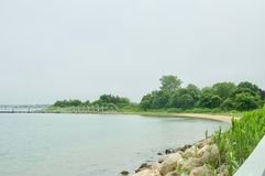 Stunning Ocean Views of Montauk, New York on a Cloudy Day. stock images