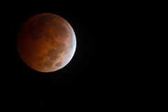 Stunning Oct. 8th 2014 Bloodmoon Lunar eclipse Stock Photo