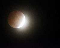 Stunning Oct. 8th 2014 Bloodmoon Lunar eclipse royalty free stock photos