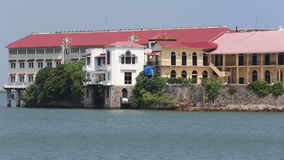 Stunning Old buildings of Casco Viejo, the historic district of Panama City Panama. stock footage