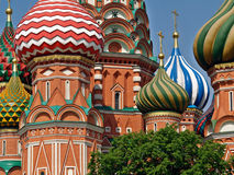Stunning Onion-shaped Cupolas of St. Basil's Cathedral Stock Photos