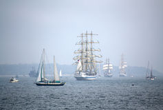 Stunning Parade of sails Royalty Free Stock Image