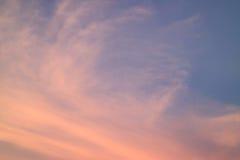 Stunning Pastel Orange and Blue Tropical Sunset Sky, Bangkok Stock Image