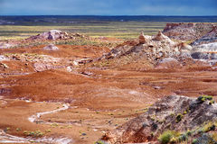 Stunning petrified wood in the Petrified Forest National Park, Arizona Stock Photography