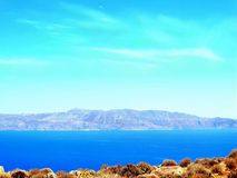 Stunning pink-blue beach and landscape in Balos, Crete, Greece. royalty free stock photos