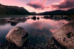Cumbria Sunset on the Lake royalty free stock photo