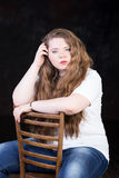 Stunning plus size red head teen girl Royalty Free Stock Image