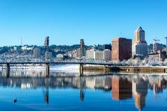 Stunning Portland Reflection Royalty Free Stock Image