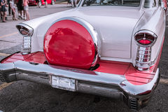 Stunning powerful rear view of old classic vintage retro car Royalty Free Stock Photo