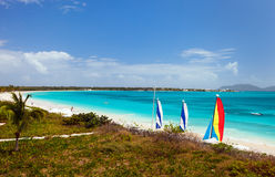 Rendezvous Bay on Anguilla Caribbean Royalty Free Stock Images