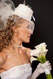 Stunning retro bride profile Royalty Free Stock Photography