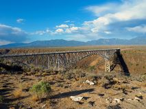 Bridge Spanning the Rio Grande Gorge in New Mexico royalty free stock images