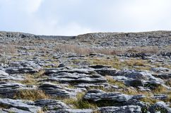Beautiful rocky landscape of the Burren national park. Stunning rocky landscape of the Burren national park Stock Image