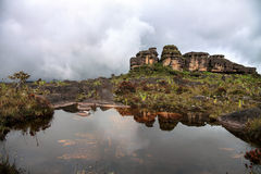 Stunning rocky terrain of Roraima mount Royalty Free Stock Photography