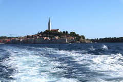 Stunning romantic old town of Rovinj with colorful buildings, Istrian peninsula, Croatia, Europe Royalty Free Stock Images