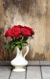 Stunning roses in ceramic vase Stock Images