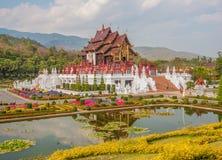 The stunning Royal Flora Ratchaphruek garden, Thailand stock image