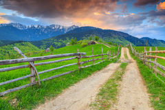 Stunning Rural Landscape Near Bran,Transylvania,Romania,Europe Stock Photos
