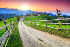 Stunning rural landscape near Bran,Transylvania,Romania,Europe Stock Photography