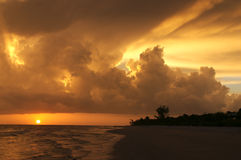 Stunning Sanibel Sunset Stock Photography