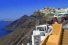 Stunning Santorini view Stock Images