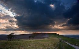 Stunning scene across countryside landscape Stock Photo