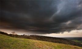 Stunning scene across countryside landscape Stock Photography