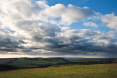 Stunning scene across countryside landscape Royalty Free Stock Image